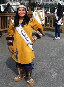 Selina wearing her Miss Nuchalawayya regalia.