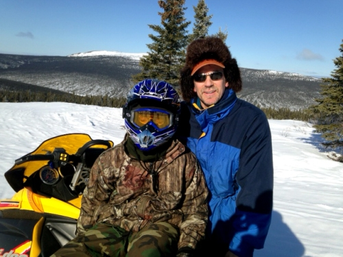 Stickel_snowmachining with son
